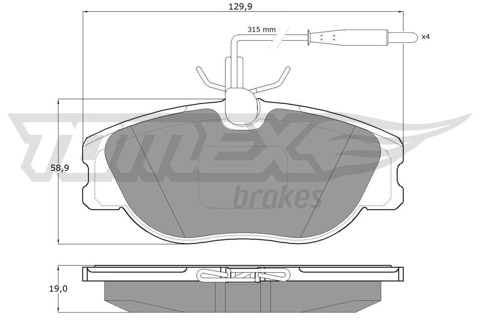 Bremsbeläge TX 12-442 TOMEX brakes 21802 in Original Qualität