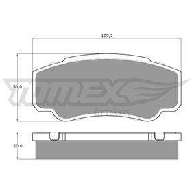 Bremsbelagsatz, Scheibenbremse Breite: 109,7mm, Höhe: 50mm, Dicke/Stärke: 20mm mit OEM-Nummer 4254 68