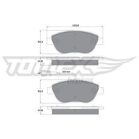 Bremsbelagsatz, Scheibenbremse Breite: 123mm, Höhe: 53,3mm, Dicke/Stärke: 17,8mm mit OEM-Nummer 7 736 613 4