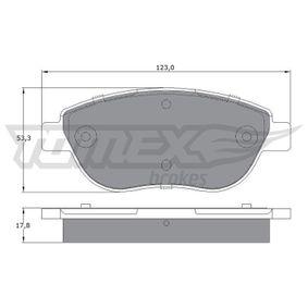 Bremsbelagsatz, Scheibenbremse Breite: 123mm, Höhe: 53,3mm, Dicke/Stärke: 17,8mm mit OEM-Nummer 7 736 399 2