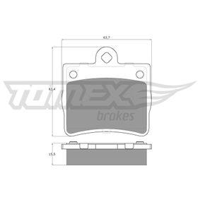 Bremsbelagsatz, Scheibenbremse Breite: 63,7mm, Höhe: 63,4mm, Dicke/Stärke: 15,5mm mit OEM-Nummer A00 242 05120