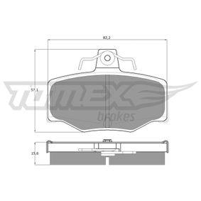 Nissan Almera Tino 2.2dCi Bremsbeläge TOMEX brakes TX 12-93 (2.2 dCi Diesel 2006 YD22DDT)