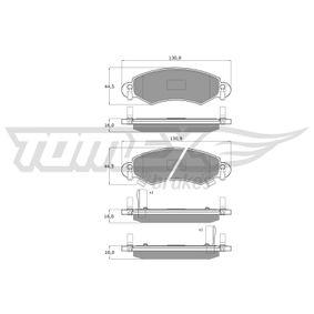 Bremsbelagsatz, Scheibenbremse Breite: 130,9mm, Höhe: 44,5mm, Dicke/Stärke: 16mm mit OEM-Nummer 4704578