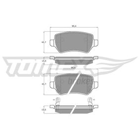 2009 Vauxhall Astra H 2.0 Turbo Brake Pad Set, disc brake TX 12-97