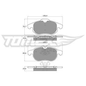 Bremsbelagsatz, Scheibenbremse Höhe 2: 69,6mm, Höhe: 70,7mm, Dicke/Stärke: 19,6mm mit OEM-Nummer 93 18 5751