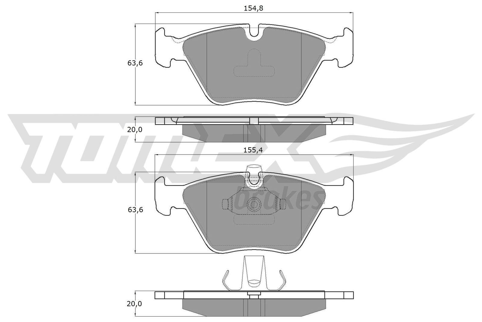 Bremsbeläge TX 13-18 TOMEX brakes 21677 in Original Qualität