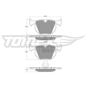 Bremsbelagsatz, Scheibenbremse TX 13-19 X5 (E53) 3.0 d Bj 2004