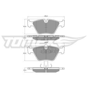 Bremsbelagsatz, Scheibenbremse Höhe: 63,6mm, Dicke/Stärke: 20mm mit OEM-Nummer 34112157588