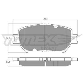 Bremsbelagsatz, Scheibenbremse Breite: 131,5mm, Höhe: 58,5mm, Dicke/Stärke: 17,5mm mit OEM-Nummer 04465-33240