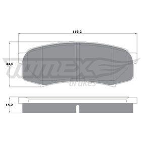 Bremsbelagsatz, Scheibenbremse Höhe: 44mm, Dicke/Stärke: 15,2mm mit OEM-Nummer 0446660040
