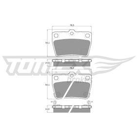 Brake Pad Set, disc brake TX 13-86 RAV 4 II (CLA2_, XA2_, ZCA2_, ACA2_) 2.4 4WD MY 2005