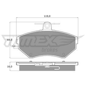 Bremsbelagsatz, Scheibenbremse Breite: 119mm, Höhe: 69,5mm, Dicke/Stärke: 16mm mit OEM-Nummer 1HM.698.151