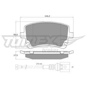 2013 T5 Transporter 2.0 TDI Brake Pad Set, disc brake TX 13-96