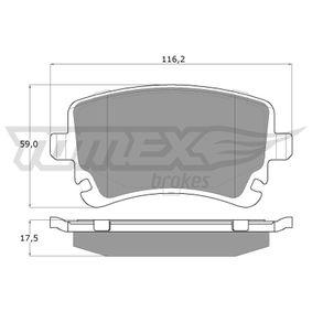 2012 T5 Transporter 2.0 TDI Brake Pad Set, disc brake TX 13-961