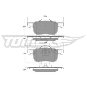 Brake Pad Set, disc brake Width 1: 156,4mm, Width 2 [mm]: 155,4mm, Height 1: 69mm, Height 2: 72,5mm, Thickness: 18,5mm with OEM Number 31262506