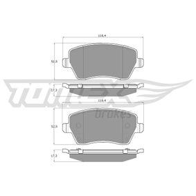 Bremsbelagsatz, Scheibenbremse Breite: 116,4mm, Höhe: 52,5mm, Dicke/Stärke: 17,3mm mit OEM-Nummer 41060-AX625