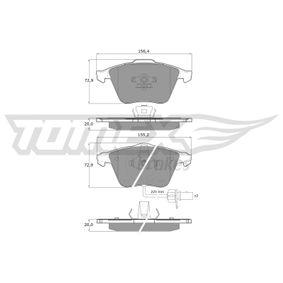 Bremsbelagsatz, Scheibenbremse Höhe: 72,9mm, Dicke/Stärke: 20mm mit OEM-Nummer 4F0698151D