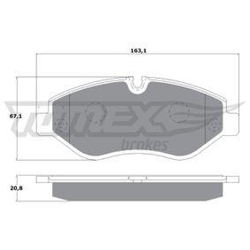 Bremsbelagsatz, Scheibenbremse Höhe: 67,1mm, Dicke/Stärke: 20,8mm mit OEM-Nummer 2E0698151