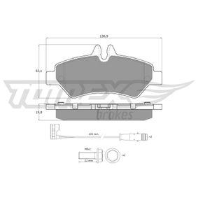 Bremsbelagsatz, Scheibenbremse Breite: 136,9mm, Höhe: 63,1mm, Dicke/Stärke: 19,8mm mit OEM-Nummer A 004 420 69 20