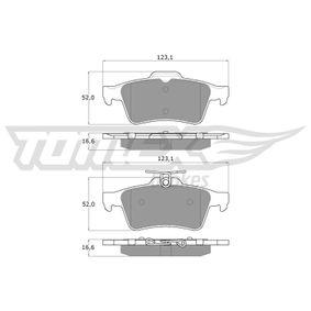 2010 Mazda 3 BL 2.0 (BLEFP) Brake Pad Set, disc brake TX 14-28