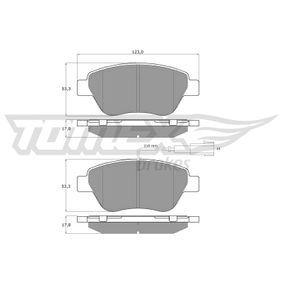 Bremsbelagsatz, Scheibenbremse Breite: 123mm, Höhe: 53,3mm, Dicke/Stärke: 17,8mm mit OEM-Nummer 7 736 394 2