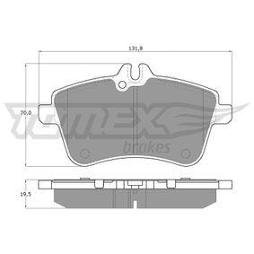 2011 Mercedes W169 A 200 CDI 2.0 (169.008, 169.308) Brake Pad Set, disc brake TX 14-55