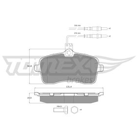 Bremsbelagsatz, Scheibenbremse Breite: 131,4mm, Höhe: 66,8mm, Dicke/Stärke: 19,5mm mit OEM-Nummer 4254 22