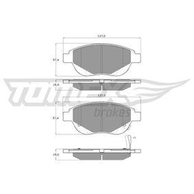 Комплект спирачно феродо, дискови спирачки TX 14-86 Corsa D Хечбек (S07) 1.3CDTI (L08, L68) Г.П. 2006