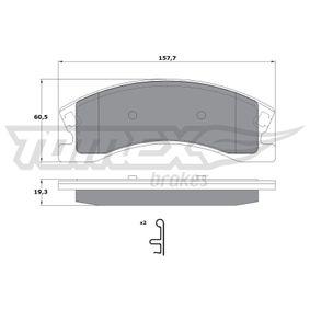 Bremsbelagsatz, Scheibenbremse Höhe: 60,5mm, Dicke/Stärke: 19,3mm mit OEM-Nummer 5093 260AA