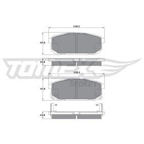 2019 KIA Sorento jc 2.5 CRDi Brake Pad Set, disc brake TX 14-95