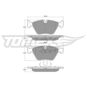 Bremsbelagsatz, Scheibenbremse Höhe: 63,6mm, Dicke/Stärke: 20mm mit OEM-Nummer 3411 6799 166