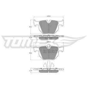 Bremsbelagsatz, Scheibenbremse TX 15-14 3 Limousine (E90) 320d 2.0 Bj 2007