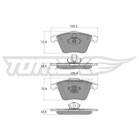 Комплект спирачно феродо, дискови спирачки ширина 2: 156,4мм, ширина: 155,2мм, височина 2: 72,9мм, височина: 72,9мм, дебелина: 18,5мм с ОЕМ-номер 23912