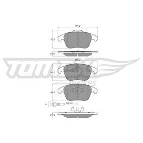 Tiguan 5n 1.4TSI 4motion Wasserpumpe + Zahnriemensatz TOMEX brakes TX 15-82 (1.4 TSI 4motion Benzin 2012 CTHD)