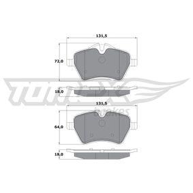 Bremsbelagsatz, Scheibenbremse Breite: 131,5mm, Höhe: 64mm, Dicke/Stärke: 18mm mit OEM-Nummer 34116778320