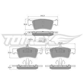 2014 T5 Transporter 2.0 TDI Brake Pad Set, disc brake TX 16-14