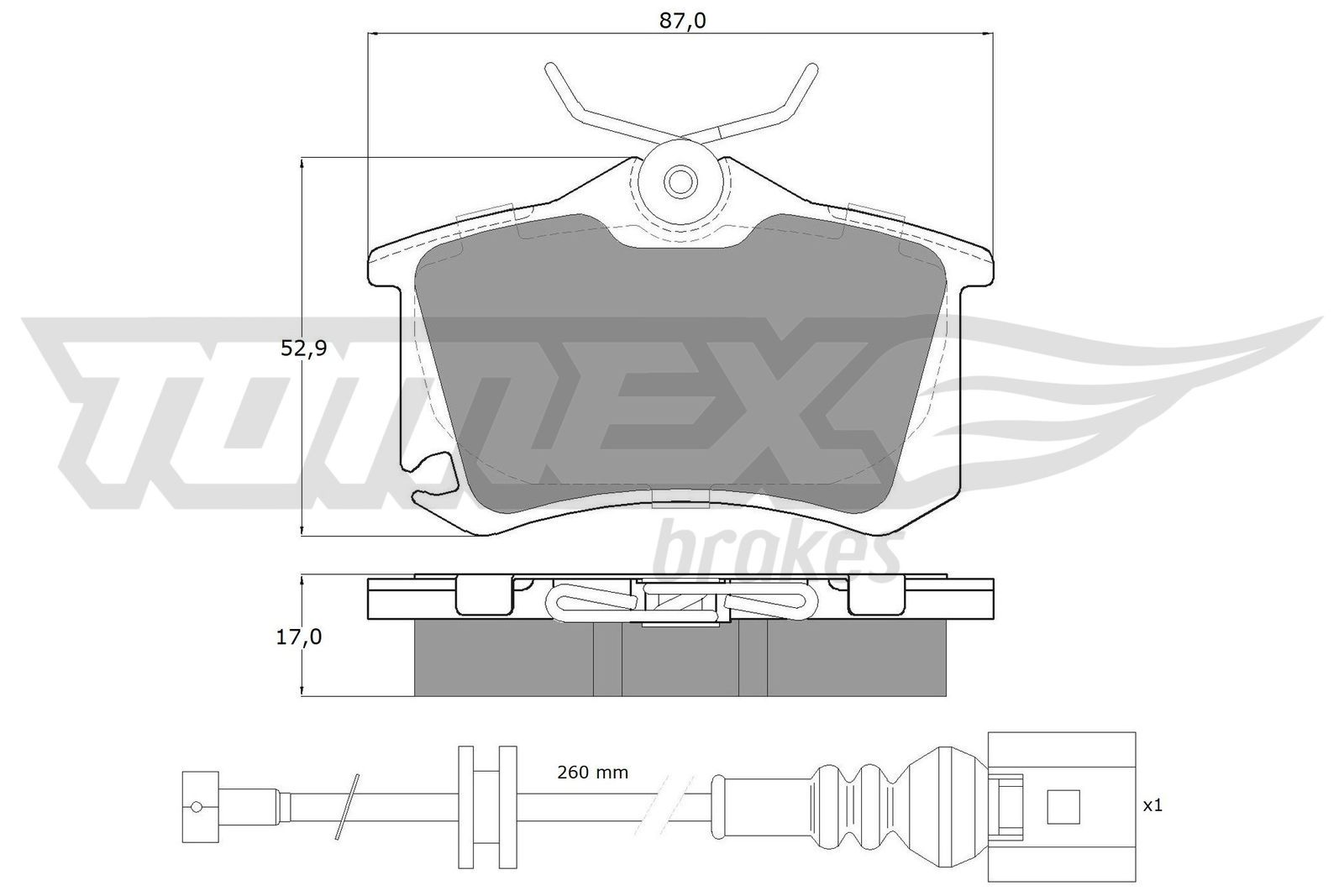 Bremsbeläge TX 16-15 TOMEX brakes 23823 in Original Qualität