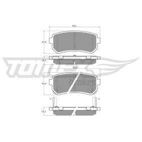 2019 Kia Sportage Mk3 2.0 CRDi AWD Brake Pad Set, disc brake TX 16-28