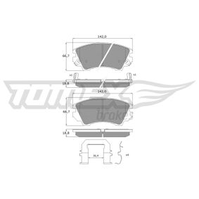 Brake Pad Set, disc brake Width: 142mm, Height: 66,7mm, Thickness: 18,8mm with OEM Number 16 05 186