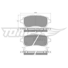 Bremsbelagsatz, Scheibenbremse Breite: 125,6mm, Höhe: 51,7mm, Dicke/Stärke: 15,3mm mit OEM-Nummer 24285