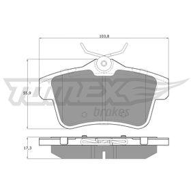 2014 Peugeot 3008 Mk1 1.6 BlueHDi 115 Brake Pad Set, disc brake TX 16-60