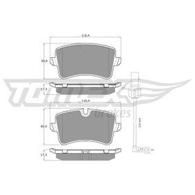 Kit de plaquettes de frein, frein à disque Hauteur 1: 58,8mm, Hauteur 2: 60mm, Épaisseur: 17,5mm avec OEM numéro 4G0 698 451 A