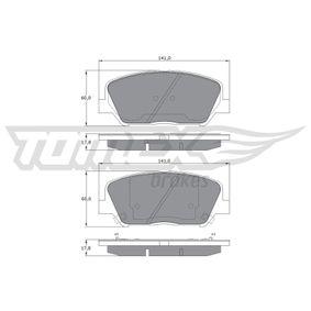 Bremsbelagsatz, Scheibenbremse Breite: 141mm, Höhe: 60mm, Dicke/Stärke: 17,8mm mit OEM-Nummer 58101 2VA70