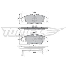 Bremsbelagsatz, Scheibenbremse Höhe 1: 73mm, Höhe 2: 73,6mm, Dicke/Stärke: 19mm mit OEM-Nummer 8K0 698 151H