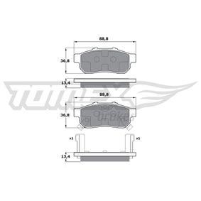 Комплект спирачно феродо, дискови спирачки TX 17-22 Jazz 2 (GD_, GE3, GE2) 1.2 i-DSI (GD5, GE2) Г.П. 2004