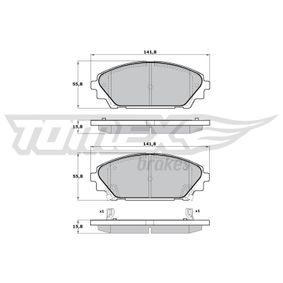 Brake Pad Set, disc brake Width: 141,8mm, Height: 55,8mm, Thickness: 15,8mm with OEM Number BHY1-332-8ZA