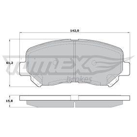 Bremsbelagsatz, Scheibenbremse Höhe: 61,2mm, Dicke/Stärke: 15,8mm mit OEM-Nummer 25564 TOMEX brakes