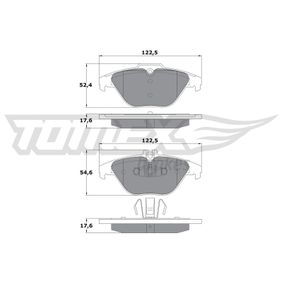 2012 Mercedes W204 C 200 CDI 2.2 (204.001) Brake Pad Set, disc brake TX 17-39