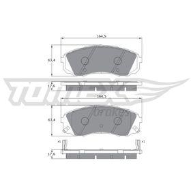 Bremsbelagsatz, Scheibenbremse Höhe: 63,4mm, Dicke/Stärke: 17,6mm mit OEM-Nummer 58101-4DE00