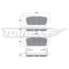Nissan Juke f15 1.6 Bremsbeläge TOMEX brakes TX 17-57 (1.6 Benzin 2011 HR16DE)